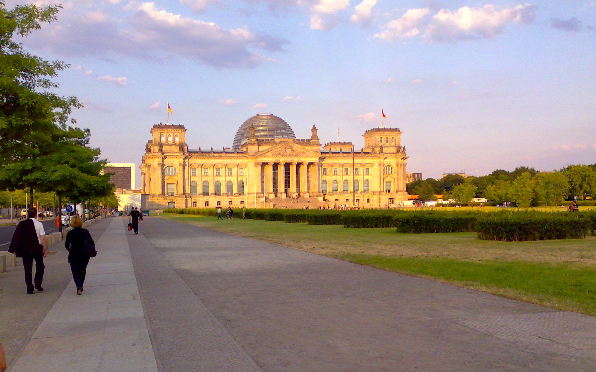 Reichstag im Abendlicht 2010