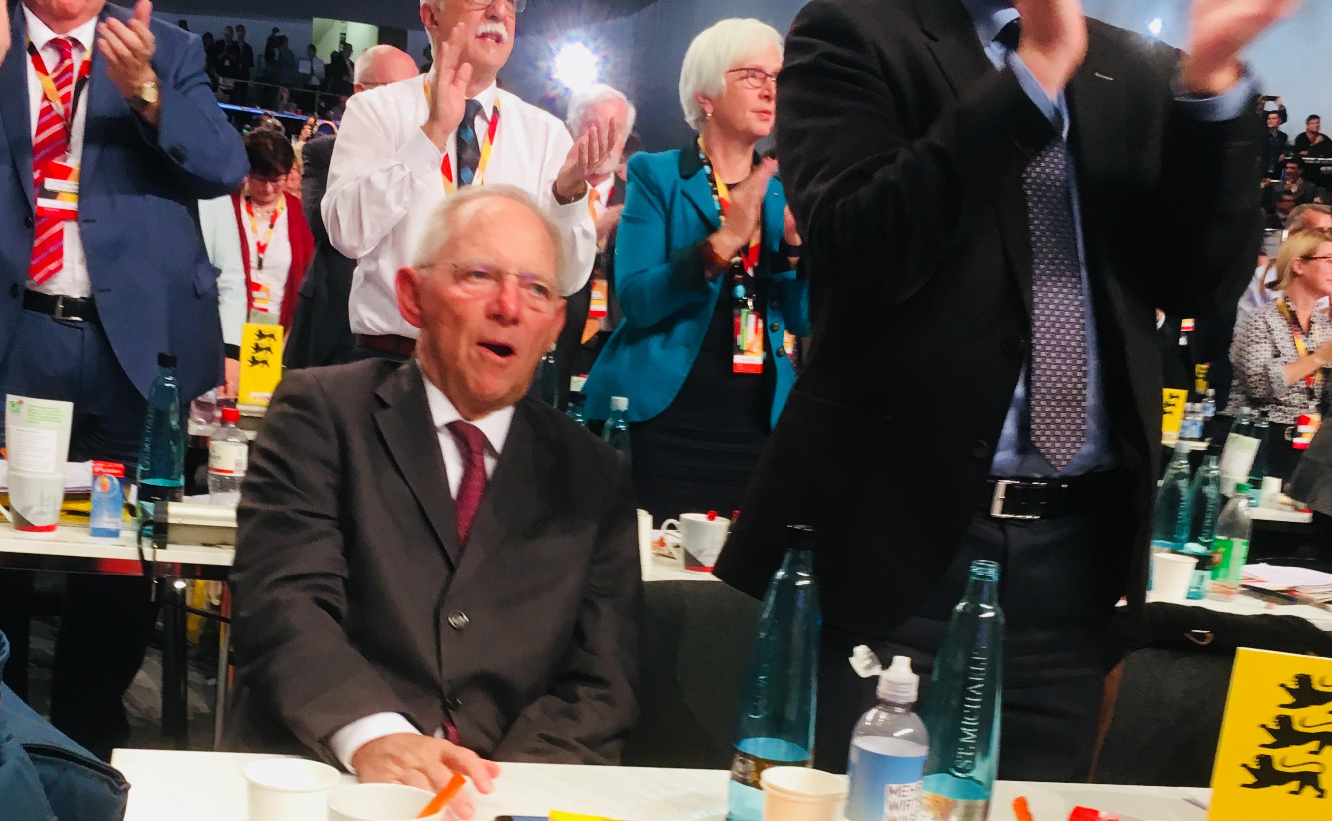 Bundesparteitag Wolfgang Schäuble
